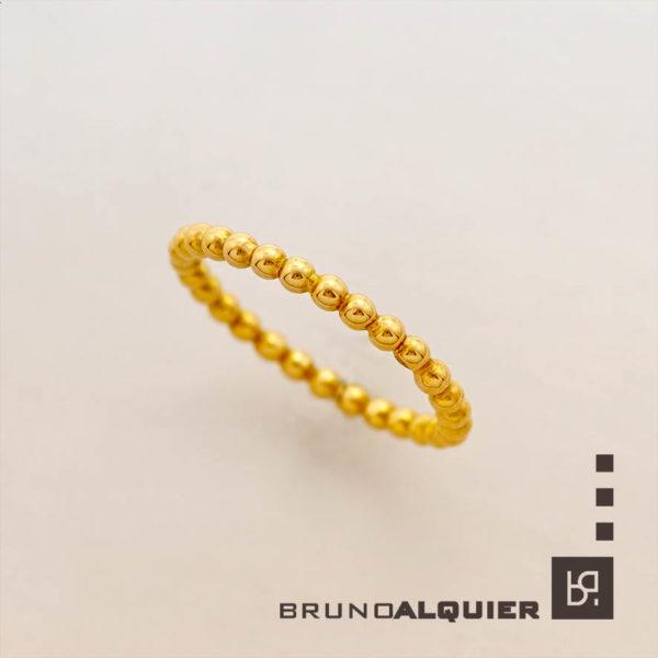 Bruno Alquier - Alliance boules en or rose