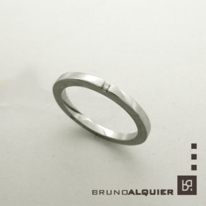 Bruno Alquier - Fancy mini - or gris et diamant