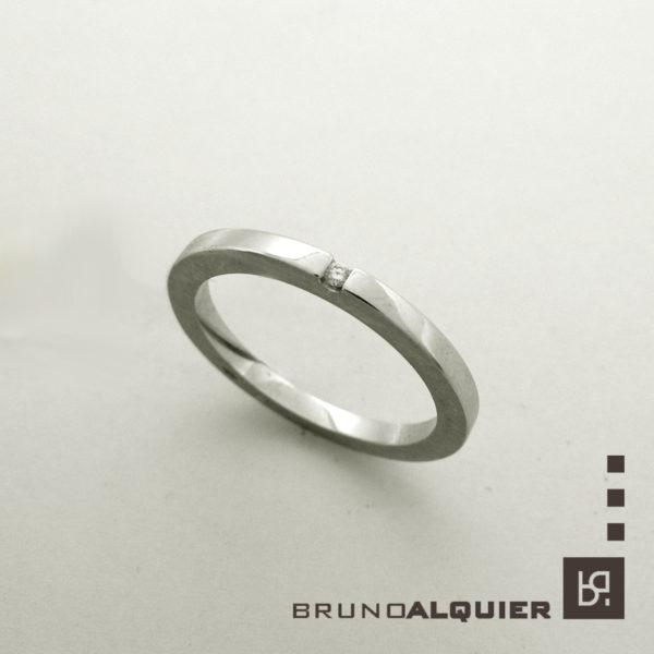 Bruno Alquier - Fancy mini - or gris et diamant