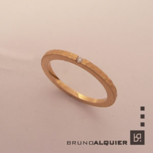 Bruno Alquier - Fancy mini - or rouge et diamant