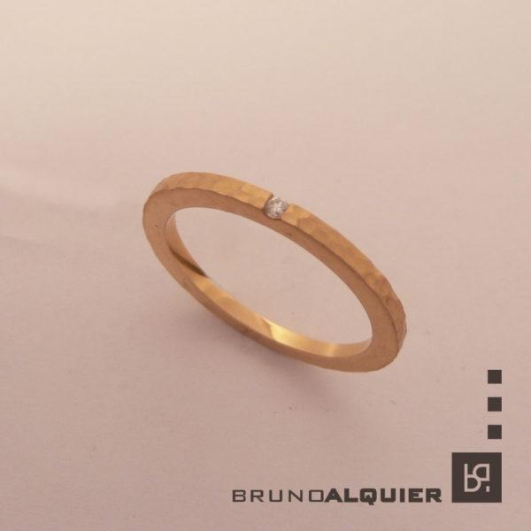 Bruno Alquier - Fancy mini - or rouge et diamant
