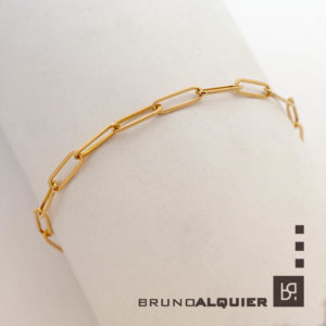 Bruno Alquier - Bracelet maille rectangle en or rose