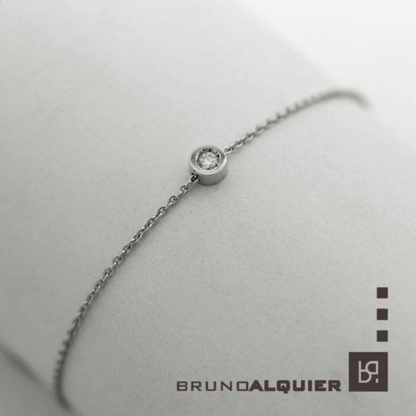 Bruno Alquier - Bracelet FIRST en or blanc et diamant