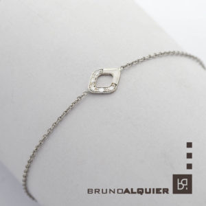 Bruno Alquier - Bracelet Losange en or blanc et diamants