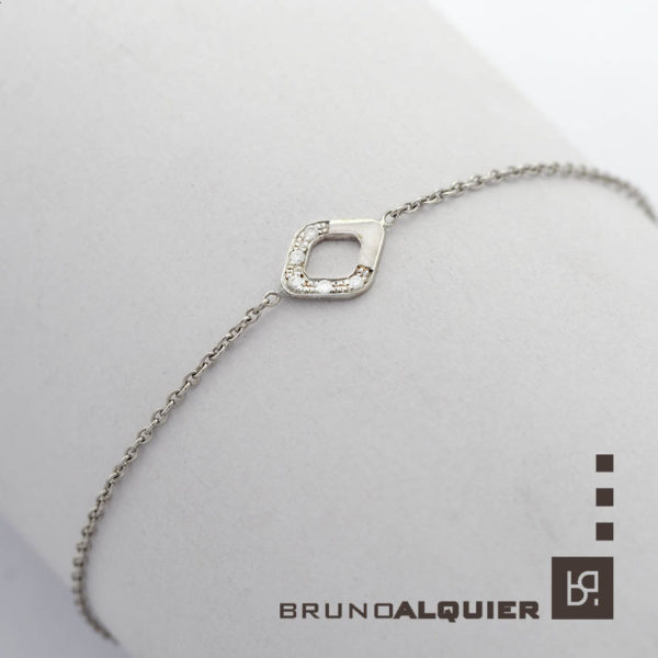 Bruno Alquier - Bracelet Losange en or blanc et diamants
