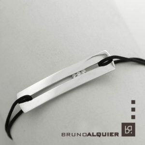 Bruno Alquier - Bracelet collection SILLON en or blanc et diamants blancs