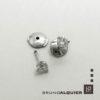 Bruno Alquier - Boucles d'oreille diamants en or blanc 3 griffes ronds