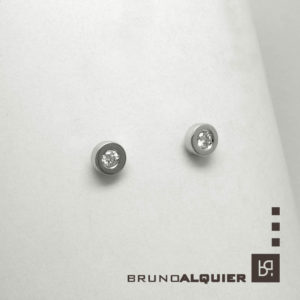 Bruno Alquier - Boucles d'oreille first diamants en or blanc