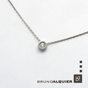 "Bruno Alquier - Collier ""first"" avec diamant en or blanc"