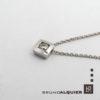 Bruno Alquier - Collier diamant forme tonneau en or blanc